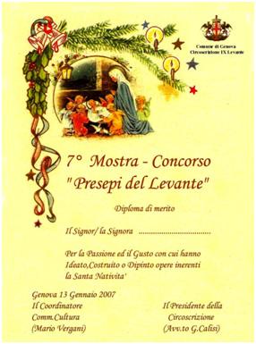 Volantini Presepi 2006-07 Circoscrizione IX Levante di Genova
