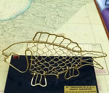 Lavoro realizzato come trofeo competizione di pesca